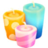 10 Colorful Candles