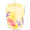 10 floral candle
