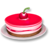 10 red berry cake