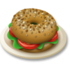 10 veggie bagel